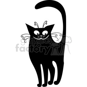 vector clip art illustration of black cat 073 clipart. Royalty-free image # 385377