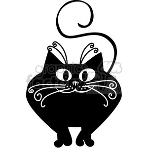 vector clip art illustration of black cat 028 clipart. Royalty-free image # 385387