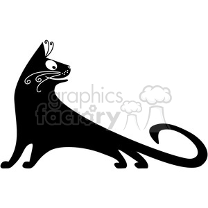 vector clip art illustration of black cat 074 clipart. Royalty-free image # 385397