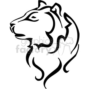 vector black+white animals wild outline vinyl-ready wolf dog tattoo