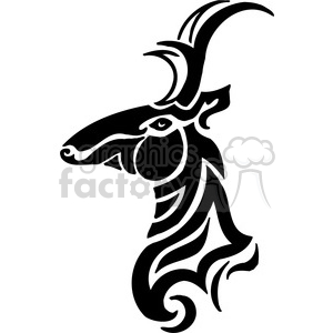 vector black+white animals wild outline vinyl-ready deer tattoo