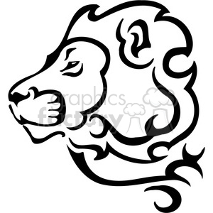 wild lion design 090 clipart. Commercial use image # 385457