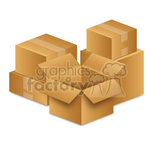 group of moving boxes clipart. Royalty-free image # 385517