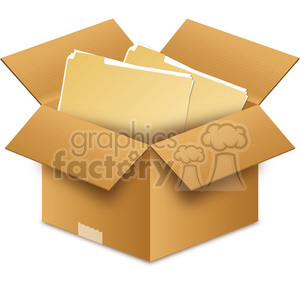 box with files clipart. Royalty-free image # 385547