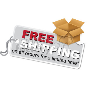 free shipping box label clipart. Commercial use image # 385567