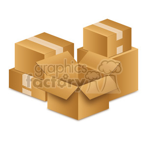 moving-boxes-illustration-picture-white-tape 002 clipart. Royalty-free image # 385597