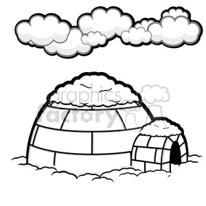 vector igloo 008 clipart. Commercial use image # 385607
