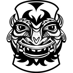 black and white Tiki clipart. Royalty-free image # 385832