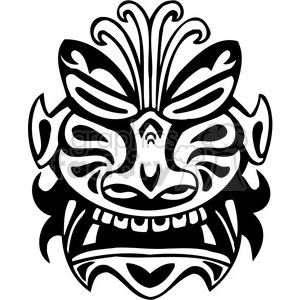 ancient tiki face masks clip art 045 clipart. Royalty-free image # 385851