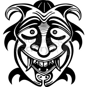 ancient tiki face masks clip art 012 clipart. Commercial use image # 385860