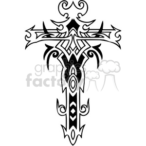 cross clip art tattoo illustrations 034 clipart. Commercial use image # 385868