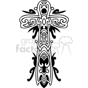 cross clip art tattoo illustrations 048 clipart. Royalty-free image # 385878