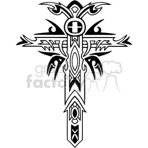 cross clip art tattoo illustrations 019 clipart. Royalty-free image # 385888
