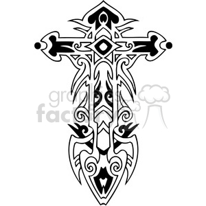 cross clip art tattoo illustrations 021 clipart. Royalty-free image # 385898