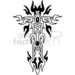 cross clip art tattoo illustrations 045 clipart. Royalty-free image # 385908