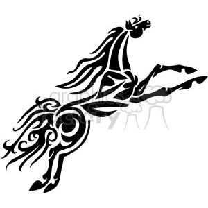 jumping horse design clipart. Royalty-free image # 385940