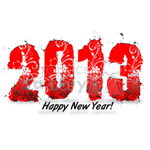 2013 Organic Happy New Year clipart. Commercial use image # 385970