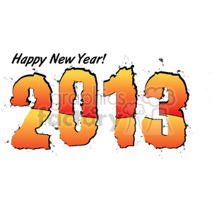 2013 Happy New Years 004 clipart. Royalty-free image # 385980