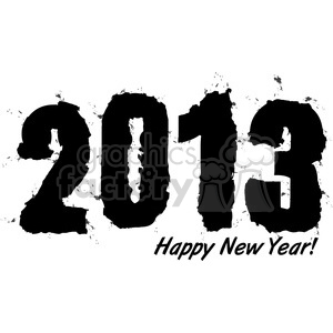 2013 Happy New Years clipart. Royalty-free image # 385990