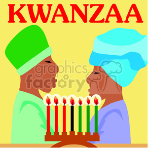 couple celebrating Kwanzaa  clipart. Royalty-free image # 145007
