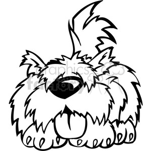 funny cartoon dog clipart clipart. Royalty-free image # 386012