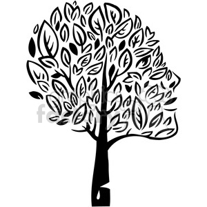 eco environment illustration logo symbols elements earth black+white tree leafs organic