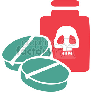 toxic meds 076 clipart. Commercial use image # 386122