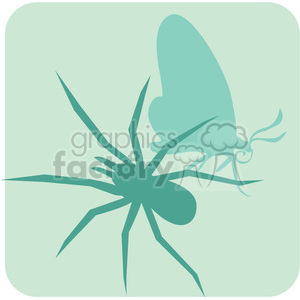 insects spider butterflies 090 clipart. Royalty-free image # 386132