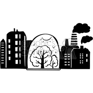 eco city nature 096 clipart. Commercial use image # 386172