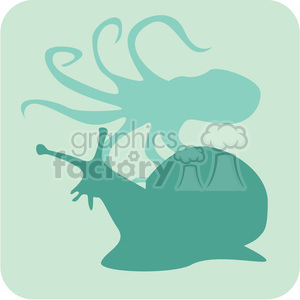 snail octopus clipart. Commercial use image # 386182