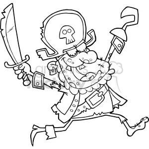 5088-Pirate-Zombie-Royalty-Free-RF-Clipart-Image clipart. Commercial use image # 386191