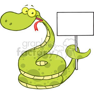 5148-Happy-Snake-Cartoon-Character-Holding-Up-A-Blank-Sign-Royalty-Free-RF-Clipart-Image clipart. Royalty-free image # 386201