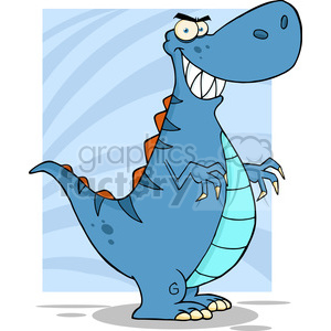 5115-Angry-Dinosaur-Cartoon-Character-Royalty-Free-RF-Clipart-Image clipart. Royalty-free image # 386281