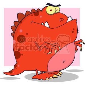 5097-Dinosaur-Cartoon-Character-Royalty-Free-RF-Clipart-Image clipart. Royalty-free image # 386351
