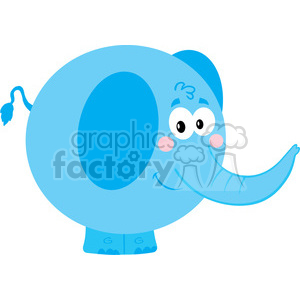 5172-Cartoon-Elephant-Royalty-Free-RF-Clipart-Image clipart. Royalty-free image # 386371