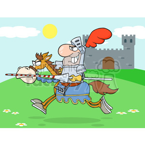 5137-Knight-Riding-Horse-Royalty-Free-RF-Clipart-Image clipart. Commercial use image # 386381