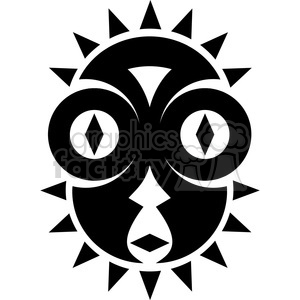tribal masks vinyl ready art 037 clipart. Commercial use image # 386391