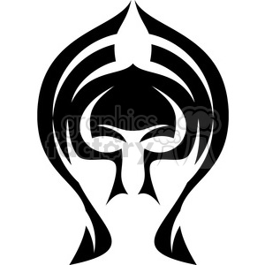 tribal masks vinyl ready art 048 clipart. Commercial use image # 386401