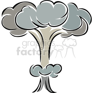 nuclear mushroom cloud explosion clipart. Royalty-free image # 173736