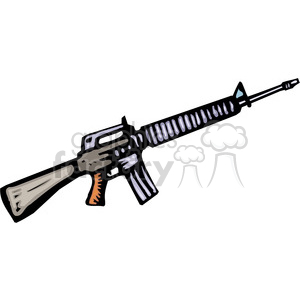 M16 clipart. Commercial use image # 173664