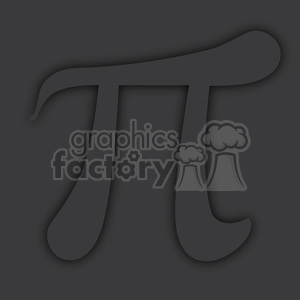gray pi symbol with shadow clipart. Commercial use image # 386437