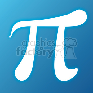 blue pi symbol clipart. Commercial use image # 386447