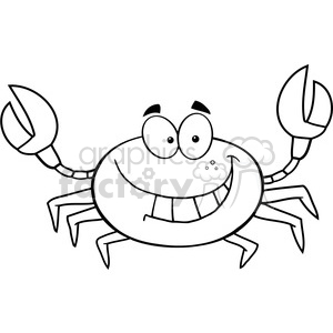 Funny Crab Cartoon Mascot Character clipart. Commercial use image # 386567