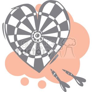 love dartboard clipart. Royalty-free image # 386656