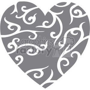stylized heart clipart. Commercial use image # 386696