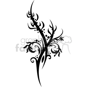 Chinese swirl floral design 096 clipart. Commercial use image # 386734