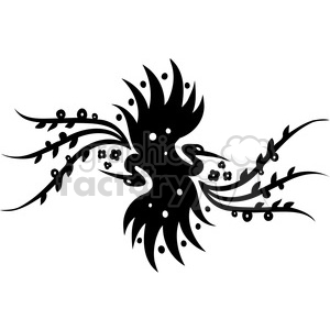 black+white swirl designs tattoo Chinese Asian floral organic vinyl+ready flowers crane bird