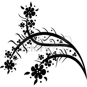 Chinese swirl floral design 100 clipart. Commercial use image # 386784