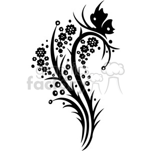 Chinese swirl floral design 098 clipart. Royalty-free icon # 386804