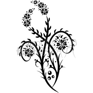Chinese swirl floral design 095 clipart. Commercial use image # 386814